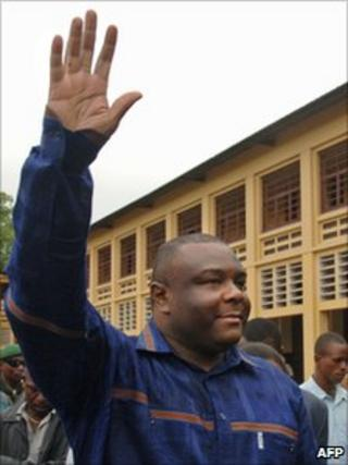 Jean-Pierre Bemba campaigning for 2006 election
