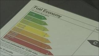 Fuel economy label
