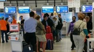 Passengers at Windhoek's Hosea Kutako International airport