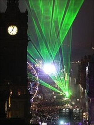 Edinburgh's Hogmanay street party