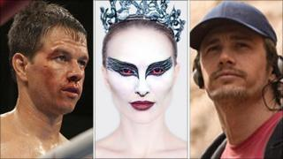 Mark Wahlberg in The Fighter, Natalie Portman in Black Swan and James Franco in 127 Hours