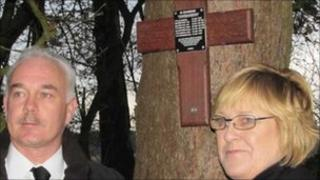 Anthony Heeley and his wife Catherine in Germany