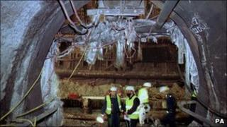Channel Tunnel fire damage