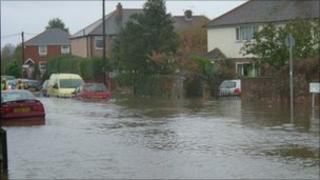 Flooding in Emsworth by BBC viewer Alan Barwis