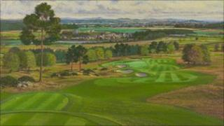 Artist's impression of the 11th hole
