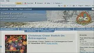 Screenshot of Sussex cliffs on website