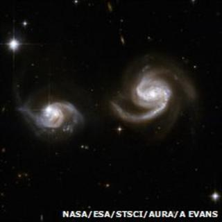 Binary galaxy pair (Nasa/Esa/STScI/AURA/A Evans)