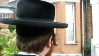 A member of the north-east London Jewish community