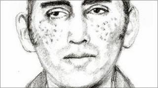 Artist's impression of sex attacker