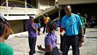 Colin Jackson in Trinidad and Tobago