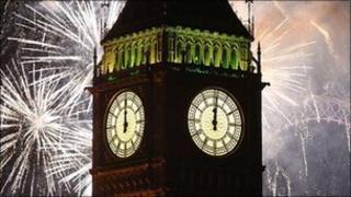 London celebrates new year