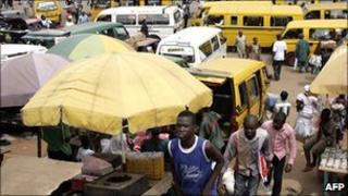 People in Lagos, April 2010