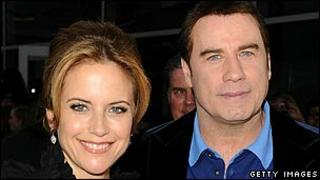 John Travolta with wife Kelly Preston