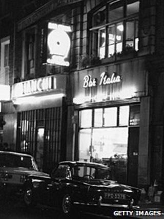 Bar Italia in 1966
