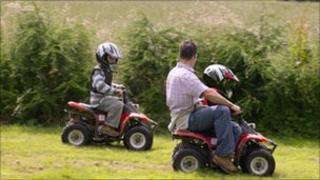 Children on quad bikes (generic)