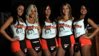 Female staff at Hooters