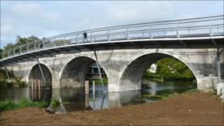 Canford Main Bridge and its flood arches