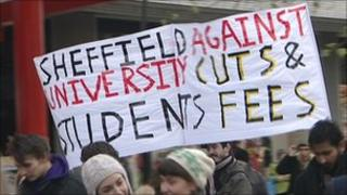 Student protest in Sheffield