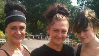 (left to right) Mandy Finn, Jade Stokes and Sally-Jo Cramman