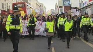 Brighton protests