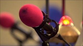A radio station microphone (generic)