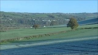 Fields which had been earmarked for homes at Newton St Loe