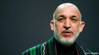 Hamid Karzai at the Nato summit in Lisbon last week