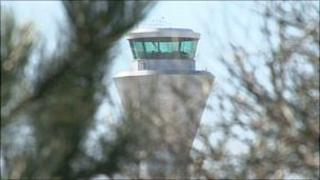 Jersey air traffic control tower