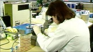 HIV test in laboratory