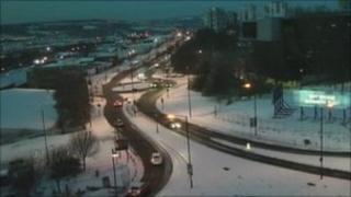 Snow in Newcastle