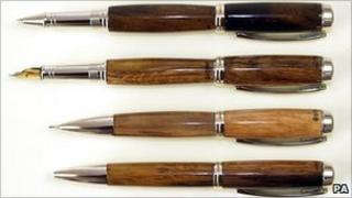 Four of the pens