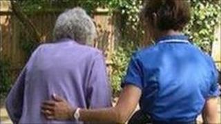 Nurse and elderly patient (generic)