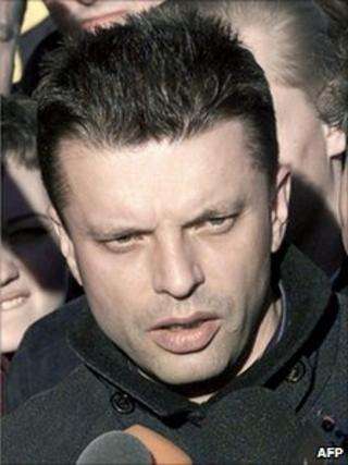 File photo of Leonid Parfyonov (taken in April 2001)