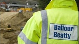 A Balfour Beatty worker