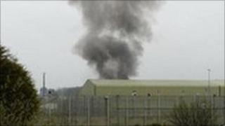 Scene at Ashwell Prison taken by Nick Crossfield