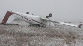 Crashed plane near summit of Pen y Fan