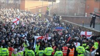 EDL demonstration in Preston
