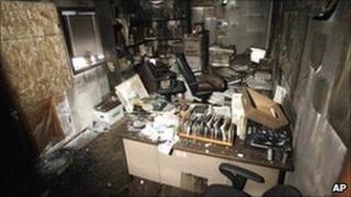 A gutted room inside the Salman Alfarisi Islamic Center in Corvallis. Photo: 28 November 2010