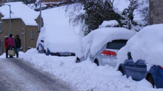 Snow in Jedburgh