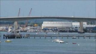 Itchen Bridge in Southampton