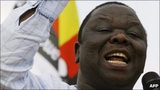 Morgan Tsvangirai (file photo)