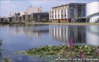 Jubilee Campus (courtesy University of Nottingham)