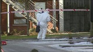 A suspicious object was found outside a house in Heath Lodge Drive