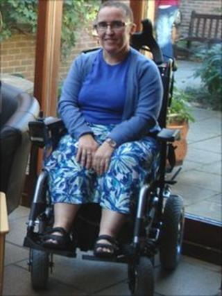 Wendy Tiffin taken by Julie Stainton from the charity Leonard Cheshire