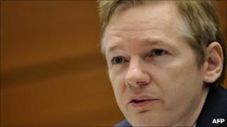 Wikileaks founder Julian Assange in Geneva, Switzerland - 4 November 2010