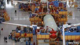 A320 production line, Finkenwerder near Hamburg