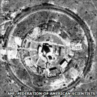 This satellite image released on March 15, 2000 by the Federation of American Scientists (FAS), shows the Khushab plutonium production reactor in Pakistan.