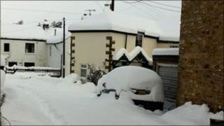 Snow in Nenthead (pic courtesy of Naomi Hewlett)