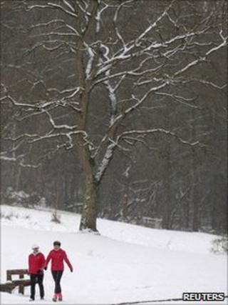 Walkers in Bramhall Park