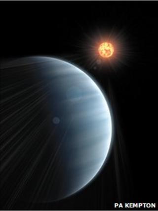 Artist's impression of GJ 1214b (PA Kempton)